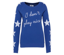 Typo-Sweater blau