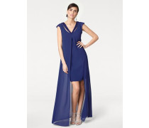 Abendkleid mit Applikationen royalblau