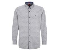 Regular: Hemd mit Minimalmuster grau