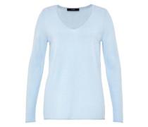 A-Linien-Pullover mit V-Ausschnitt blau