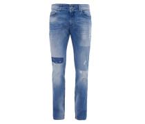 Stick Skinny: Superstretch-Jeans blau