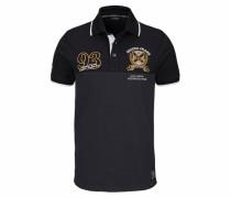 Poloshirt 'Piqué Qualität' schwarz