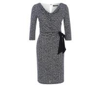 Drapiertes Kleid schwarz