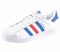 Adidas Superstar blau / rot / weiß