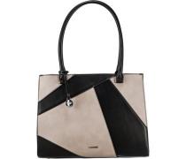 'London' Handtasche taupe / schwarz