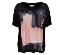 Oversize-T-Shirt schwarz