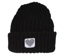Mütze 'Chunky Rib' schwarz