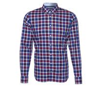 Hemd mit Karo-Muster 'Berny' lila / blau / weinrot