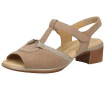 Sandale hellbeige / silber
