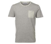 Rundhalsausschnitt- T-Shirt grau