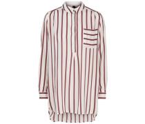 Gestreiftes Langarmhemd rot / weiß