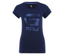 Slim Fit Printshirt 'Theagan' blau