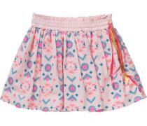 Kinder Rock Tinika mit Pailletten hellblau / gelb / pink / rosa / weiß