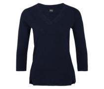 Leichter V-Neck-Pullover nachtblau