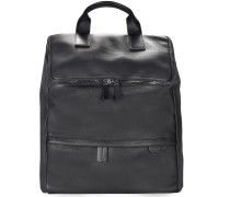 Garret Rucksack Leder 45 cm Laptopfach schwarz