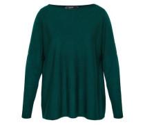Oversize Pullover aus Merinowolle dunkelgrün
