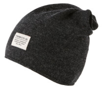 Mütze 'wool mix beanie' dunkelgrau / schwarz / schwarzmeliert