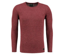 Pullover 'ST Como round' rot