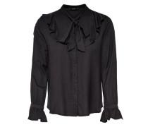 Rüschen-Langarmhemd schwarz