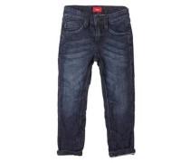 Brad Slim: Garment Dye-Jeans blau