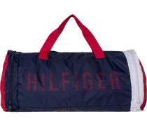 Tasche »Packable Duffle« blau / rot / weiß