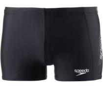 Kastenbadehose 'Sports Logo Aquashort' schwarz