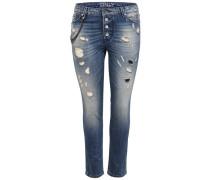 'Tyler' Girlfriend Skinny Fit Jeans blau