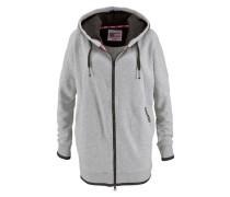 Kapuzensweatshirt »Sweatjacke Oversize« grau