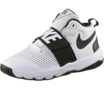'Team Hustle' Sneaker Jungen schwarz / weiß