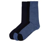 Socken (3er-Pack) blau / schwarz