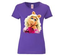 T-Shirt Miss Piggy - Portrait lila