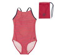 Kinder Badeanzug mit UV-Schutz 50+ dunkelblau / mischfarben / rot / weiß
