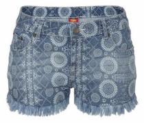 Hotpants taubenblau