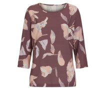 Bluse mit floralem Druck rosé
