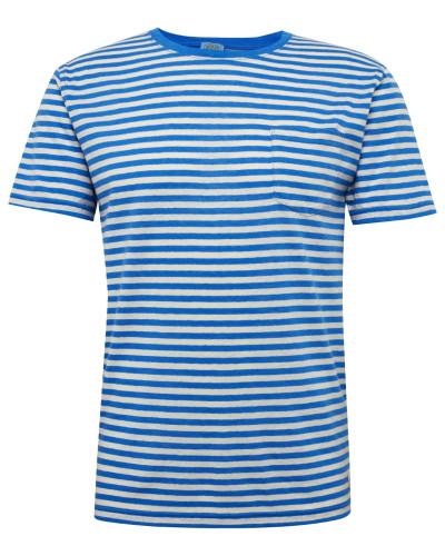 Shirt 'MC Héritage' blau / weiß