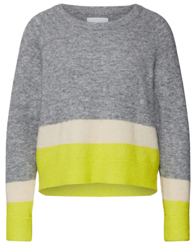 Pullover gelb / grau