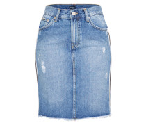 Jeansrock 'Racer' blue denim