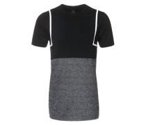 T-Shirt 'Godric' grau / schwarz