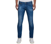 Jeans Anbass Laser blau