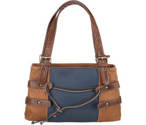 Handtasche marine / braun