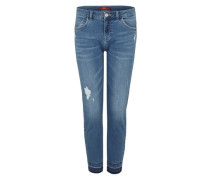Shape Ankle: Destroyed-Jeans blau