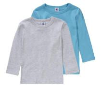 Unterhemden Doppelpack für Jungen blau / graumeliert