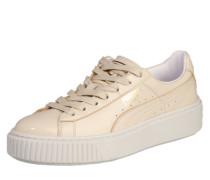 Platform-Sneakers 'Patent' creme