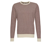 Pullover beige / rot