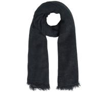 Einfarbiger Web-Schal schwarz