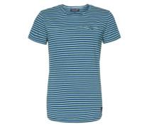 T-Shirt mit Streifen 'Thelle' blau