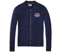 Sweatshirt 'thdm Basic Logo Zipthru Hknit 14' dunkelblau