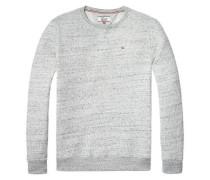 Hilfiger Denim Sweatshirt »Thdm Fleck CN Hknit 20« graumeliert