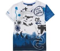 Baby Shirt für Jungen blau / weiß