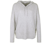 Feinstrickpullover 'hooded S Luxe' hellgrau